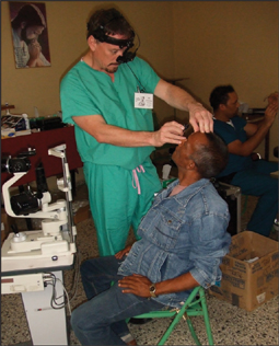 image of doctor dunn examining a patient