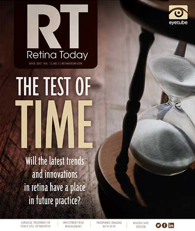 the test of time, retina today, april 2017