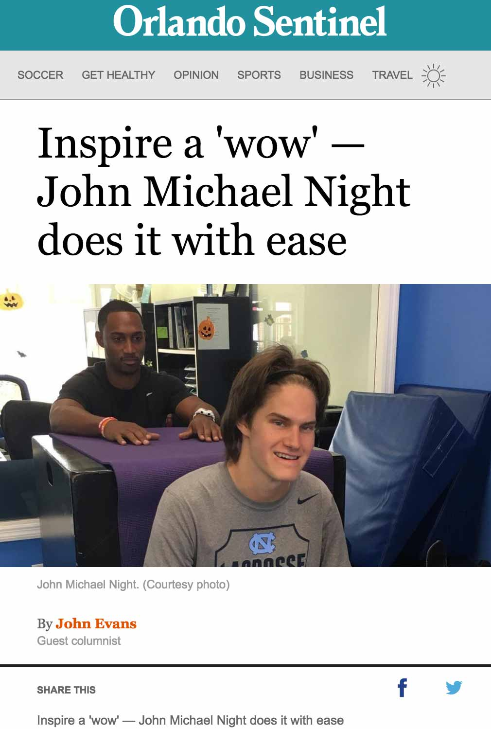 image, inspire a wow, john michael knight does it with ease