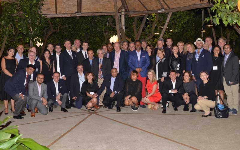 image of doctor dunn and group at the mediterranean retina meeting in sorrento italy