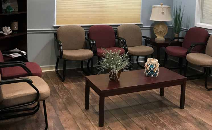 image of our waiting room in mount dora