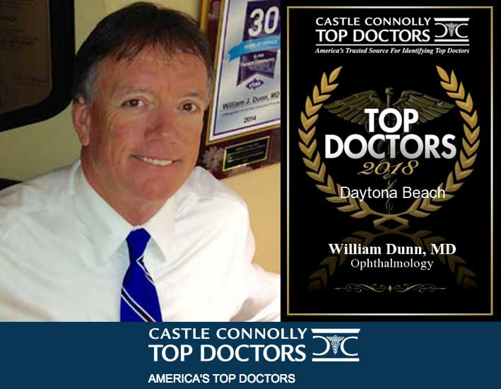 image of doctor bill dunn and 2018 top doctor award by castle connolly