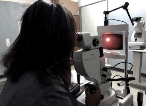 dr mgaya uses retinal diagram