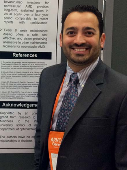 image of dr moreno at arvo, aao, academy convention